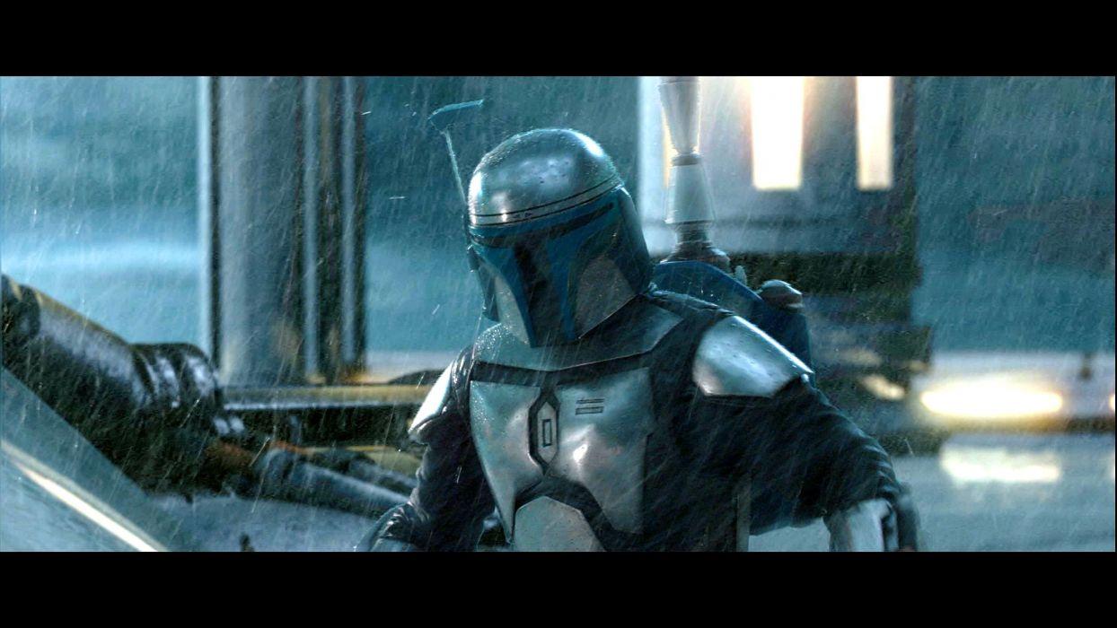 STAR WARS ATTACK CLONES sci-fi action futuristic movie film warrior armor cyborg robot wallpaper