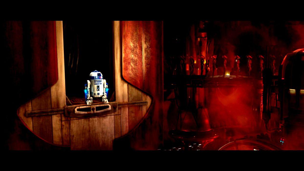 STAR WARS ATTACK CLONES sci-fi action futuristic movie film robot wallpaper
