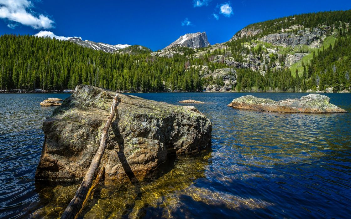 water mountains nature wood forests wildlife rocks cliffs lakes skyscapes stick desolate wallpaper