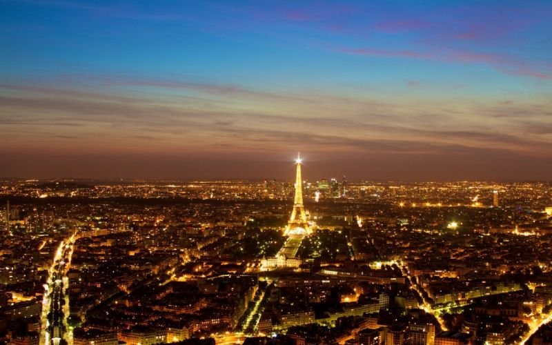Eiffel Tower Paris cityscapes skylines morning wallpaper
