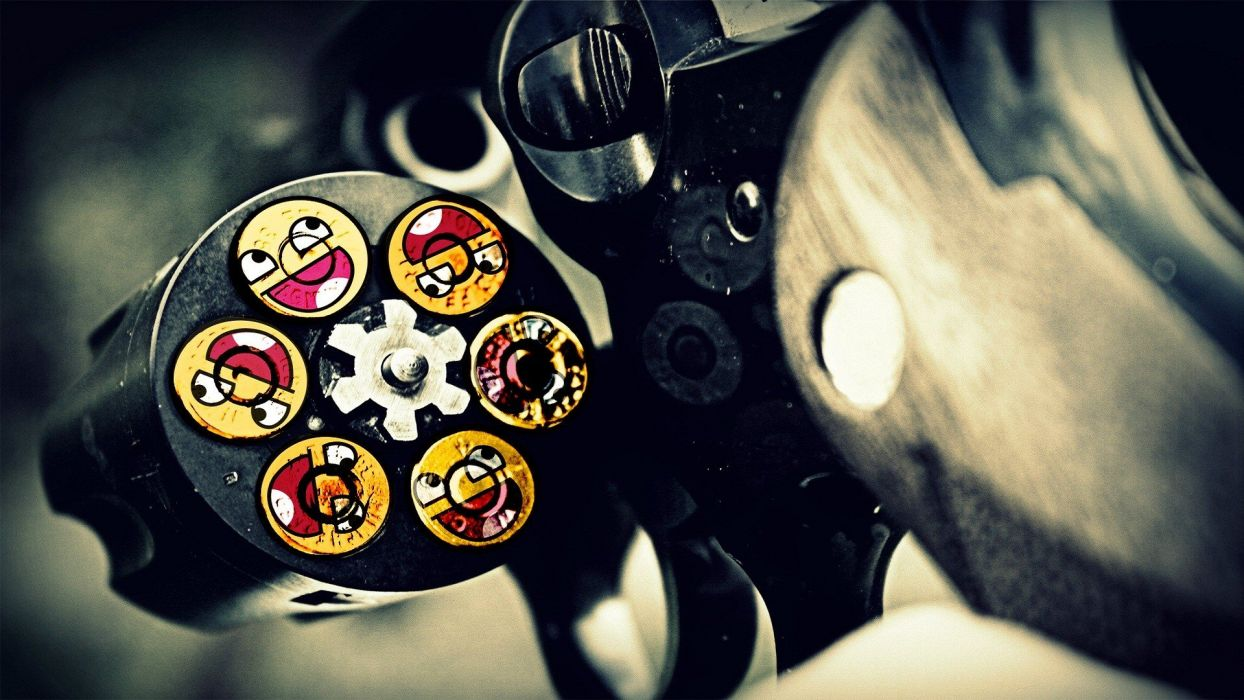guns ammunition smiley face Awesome Face wallpaper