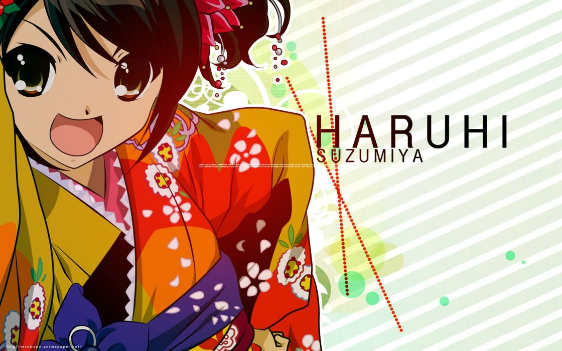 The Melancholy of Haruhi Suzumiya Japanese clothes Suzumiya Haruhi wallpaper