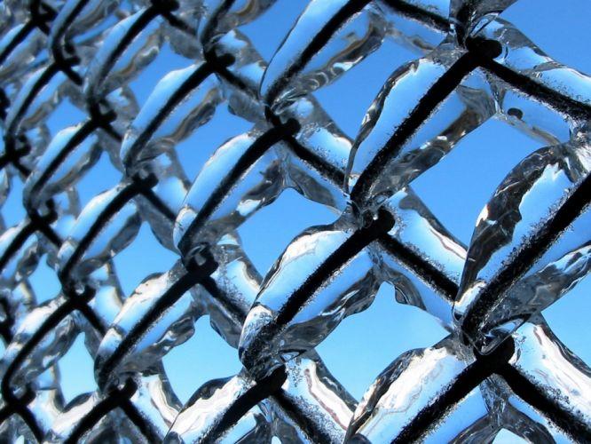 ice black dark chain link fence wallpaper