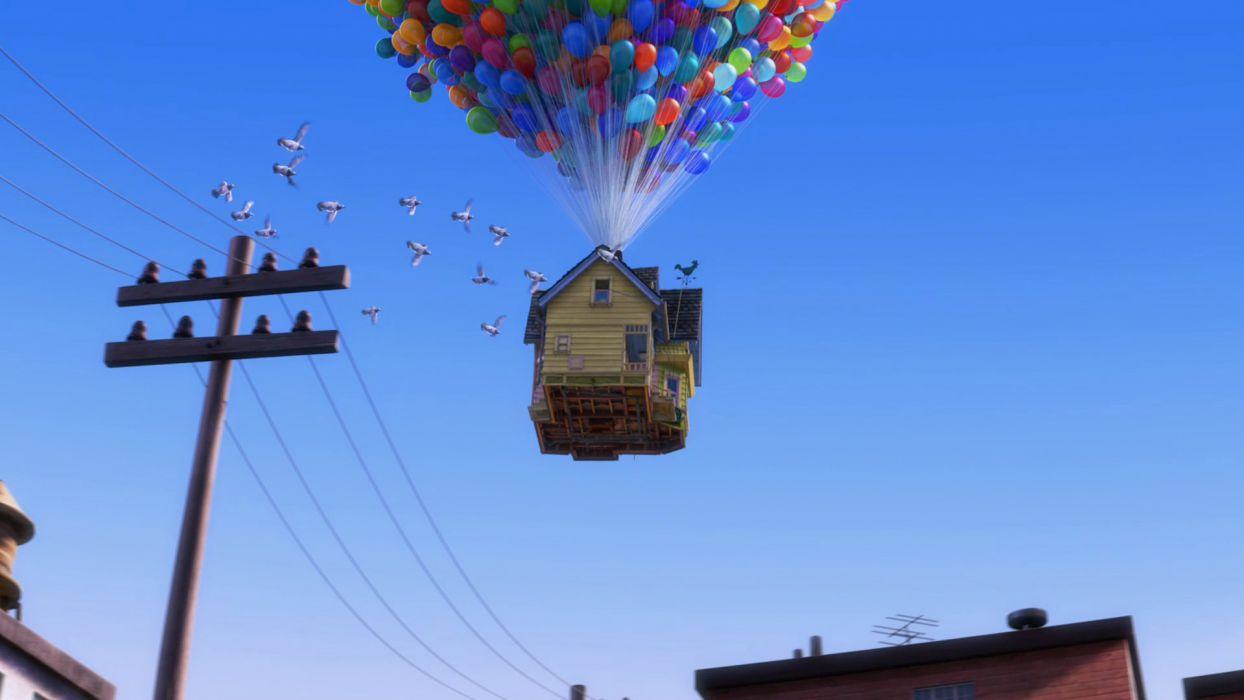 Pixar Up (movie) balloons wallpaper