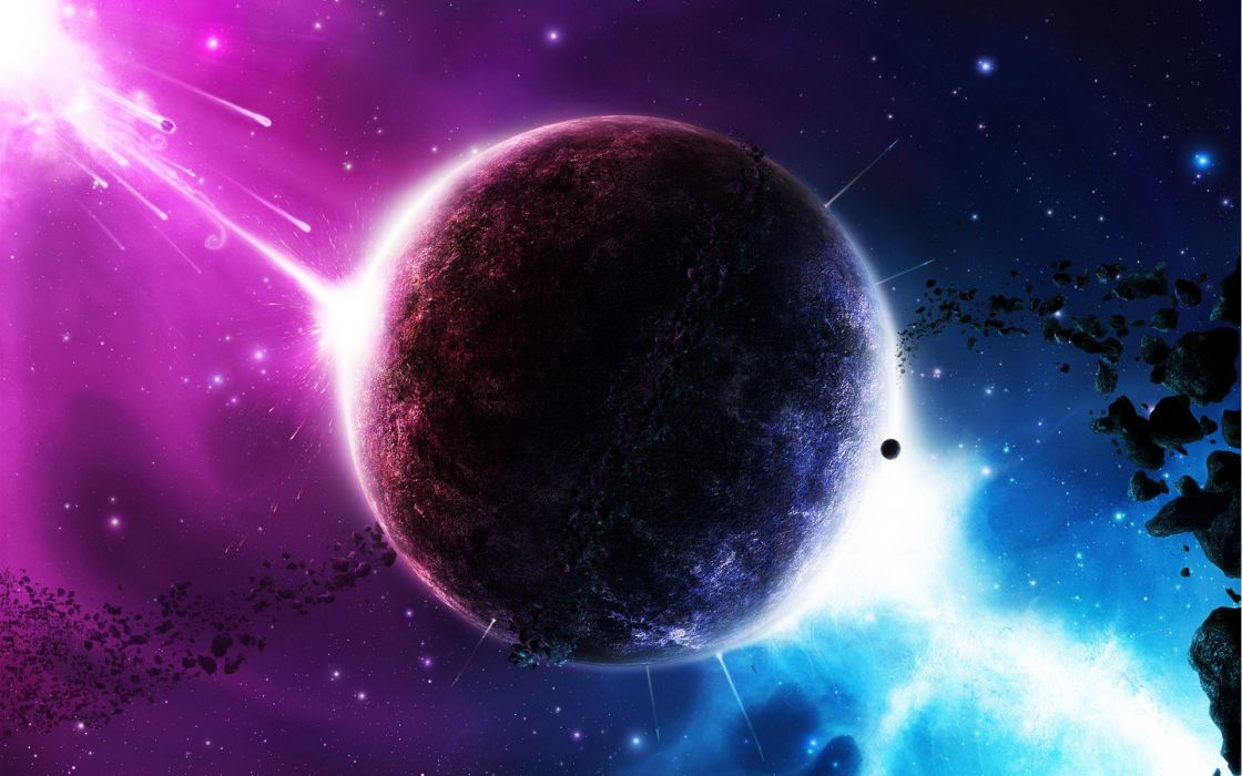 Outer Space Twilight Galaxies Planets DeviantART Wallpaper
