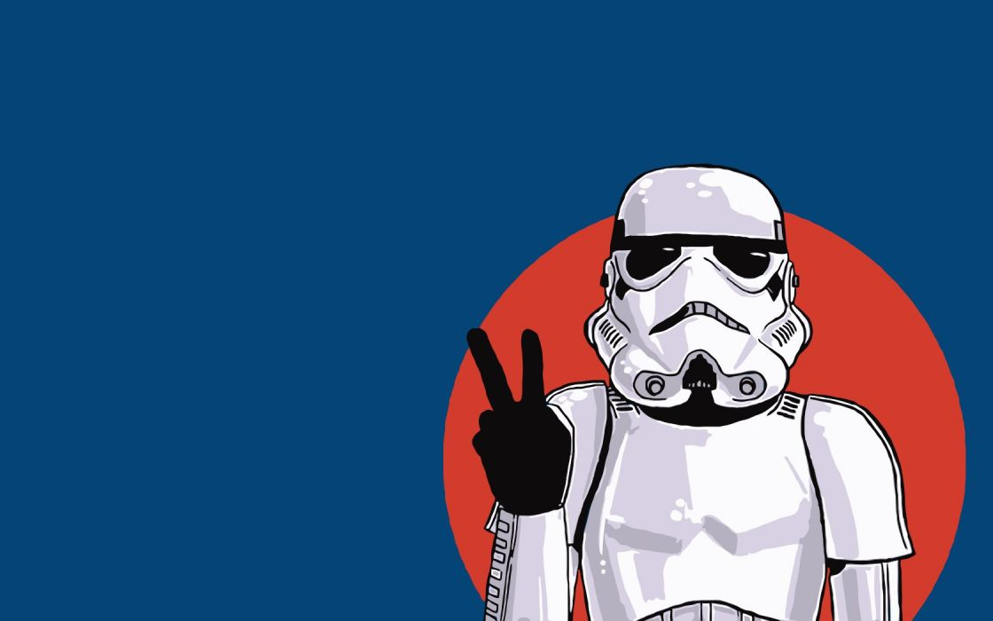 Star Wars stormtroopers peace V sign wallpaper