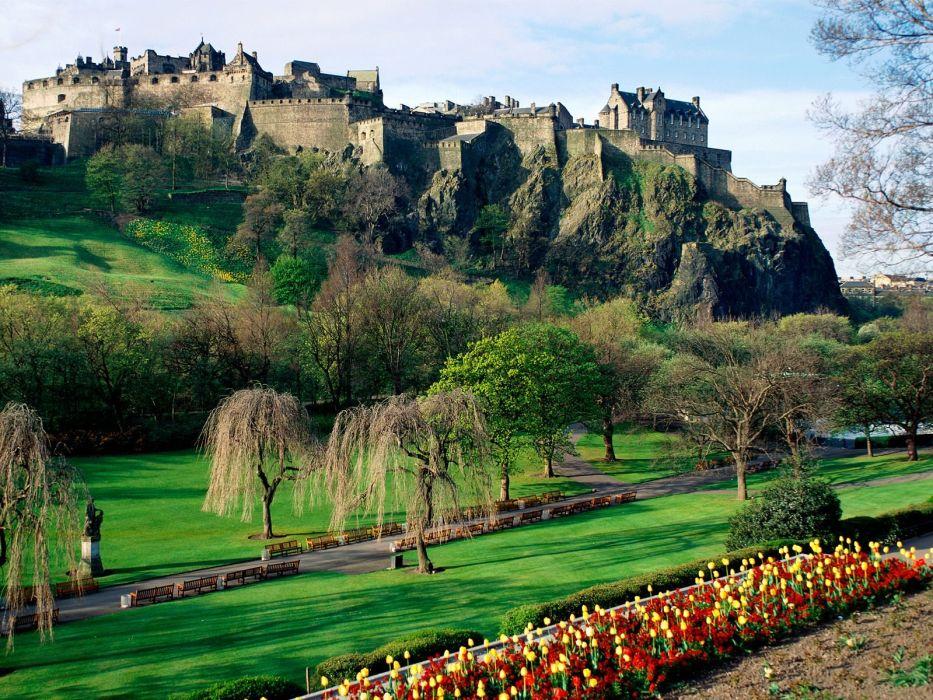 castles Scotland Edinburgh Edinburgh Castle wallpaper
