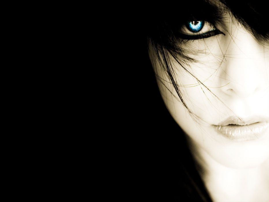 women eyes Distance eye black background wallpaper
