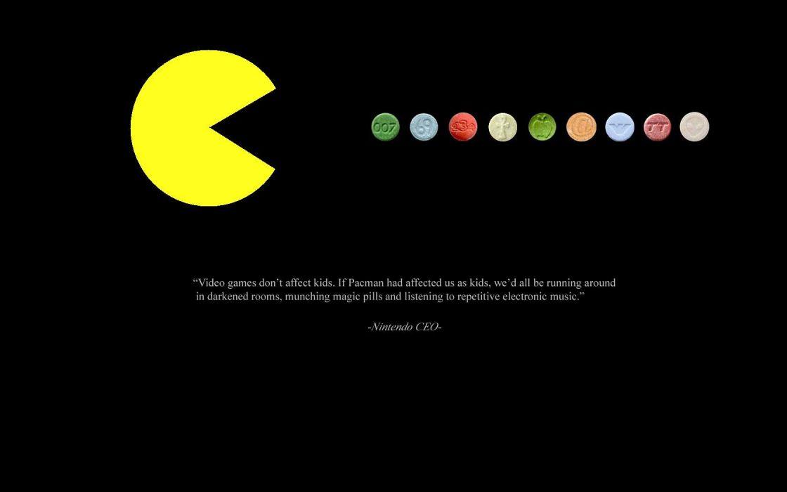Nintendo drugs quotes pills Pac-Man ecstacy mdma ecstasy wallpaper