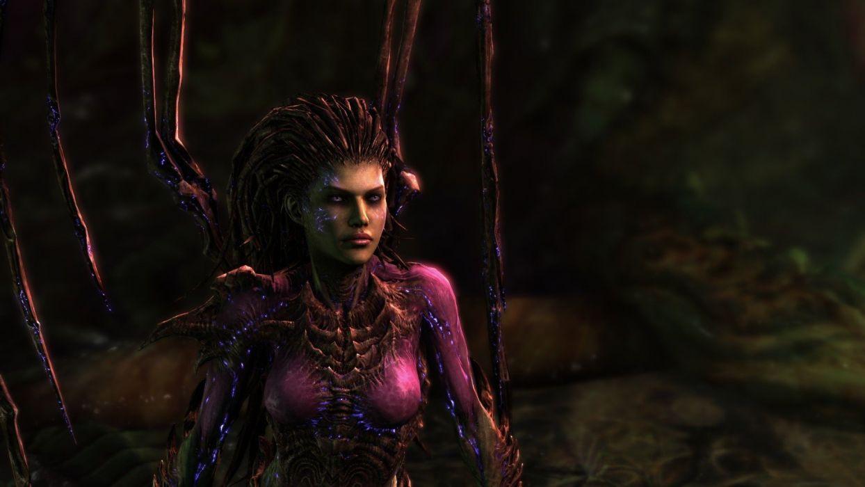 Women Video Games Starcraft Zerg Blizzard Entertainment