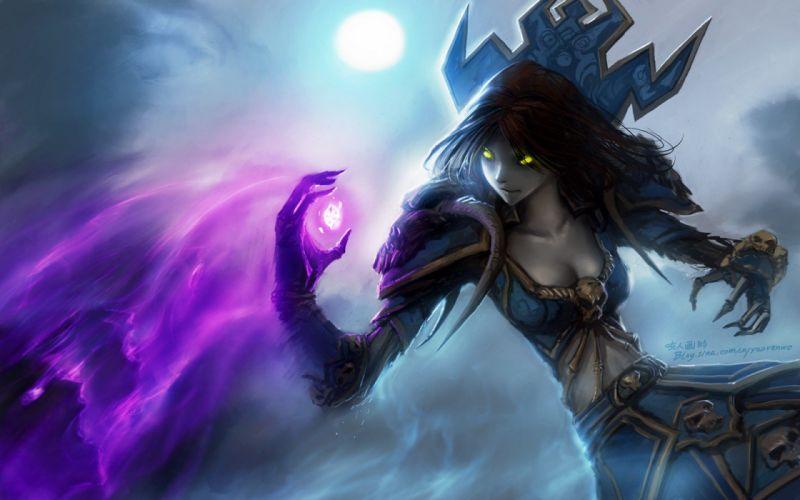 video games World of Warcraft undead fantasy art magic artwork Warlock Yaorenwo wallpaper