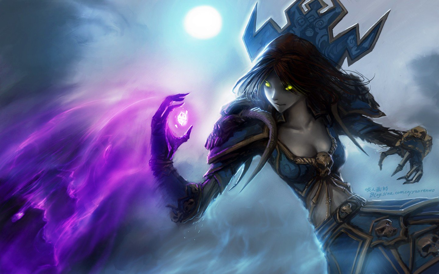 Video games World of Warcraft undead fantasy art magic ...