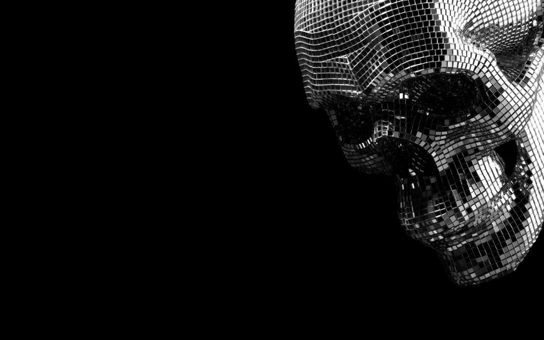 skulls balls Disco black background wallpaper