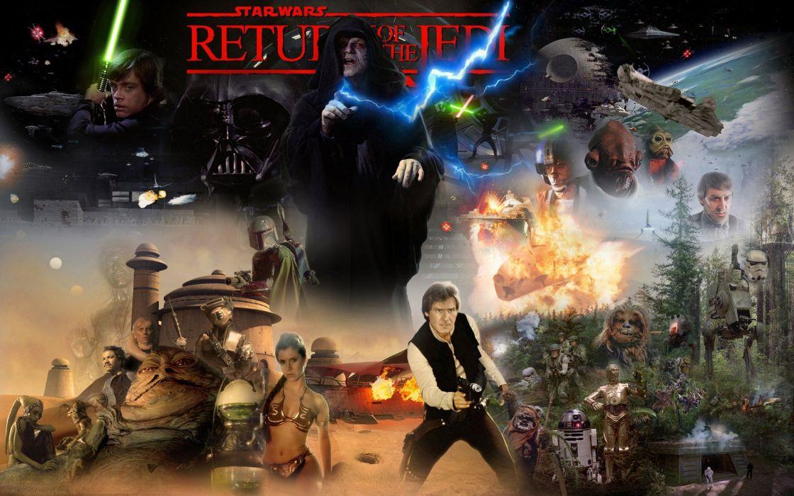 Star Wars Return Jedi Sci Fi Futuristic Movie Film 10 Wallpaper 1920x1200 255904 Wallpaperup