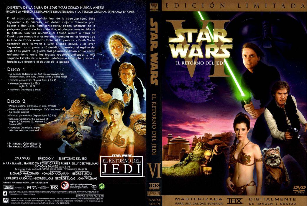Star Wars Return Jedi Sci Fi Futuristic Movie Film 12