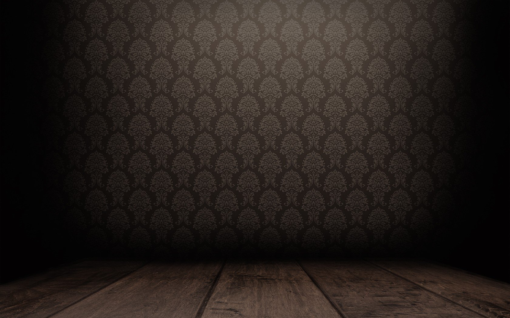 Floor patterns brown empty room dark tranquillity for 3d room wallpaper background