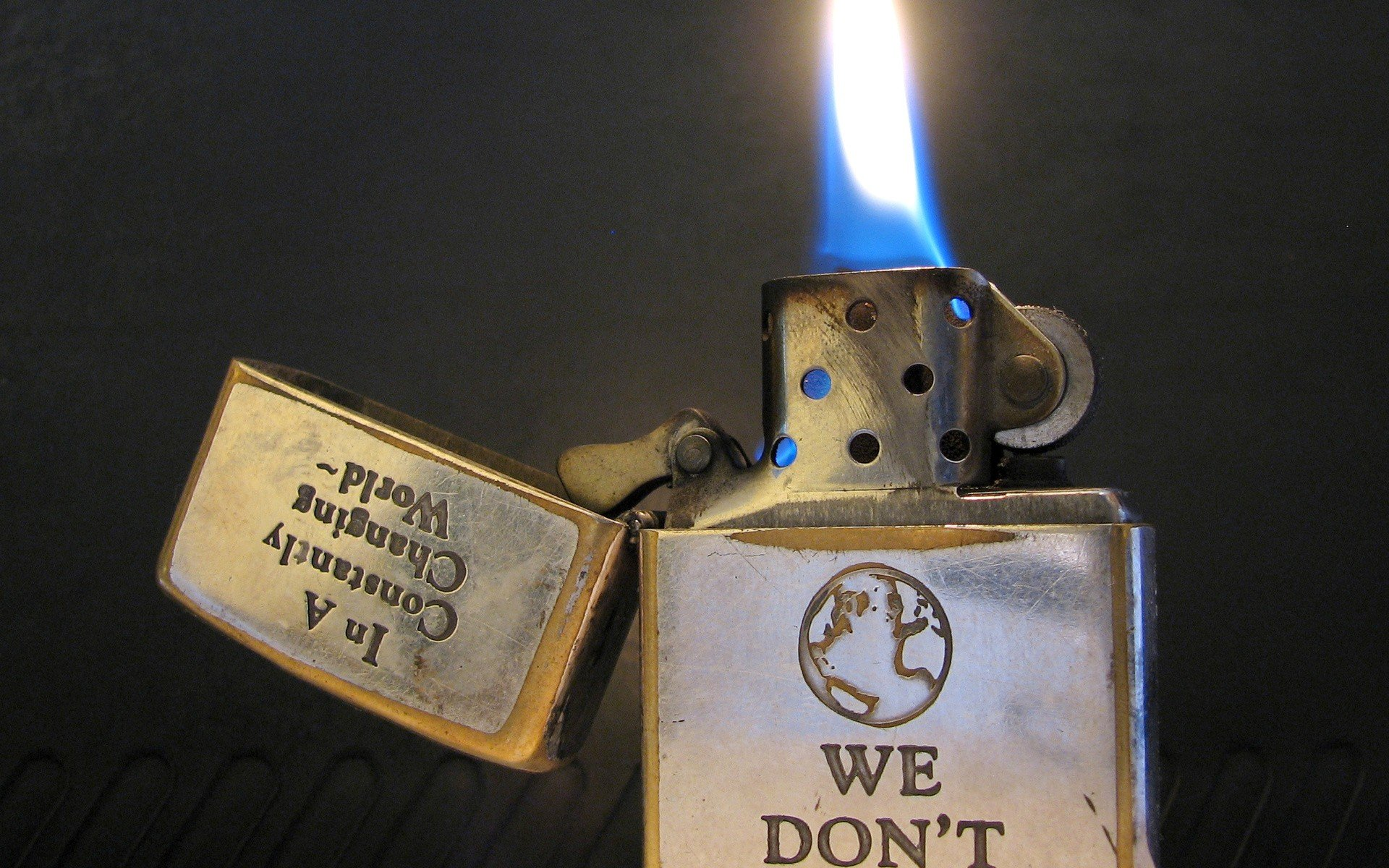 Smoking Fire Zippo Objects Lighters Flame Wallpaper