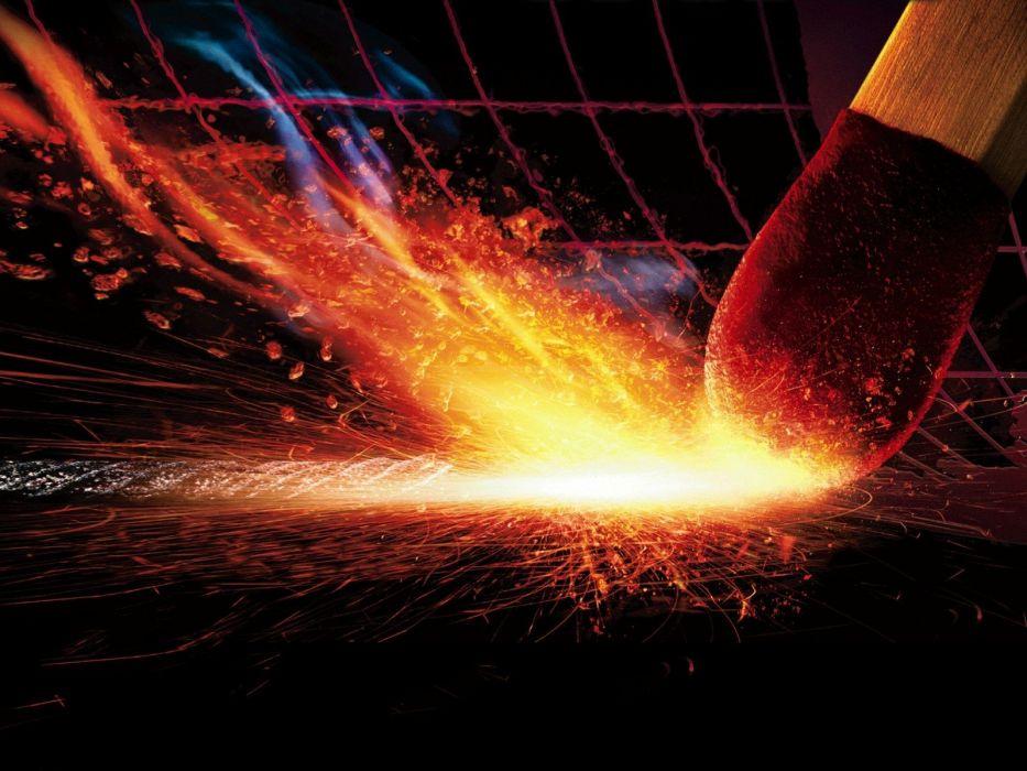 abstract flames fire matchsticks wallpaper