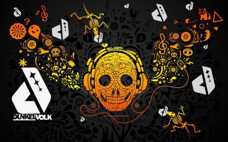 skulls drawings wallpaper