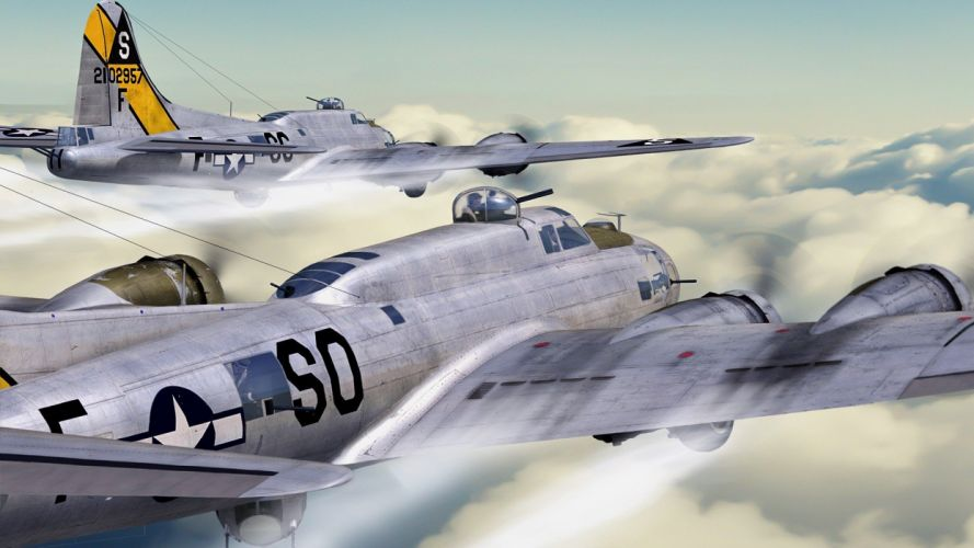 airplanes B-17 Flying Fortress widescreen wallpaper