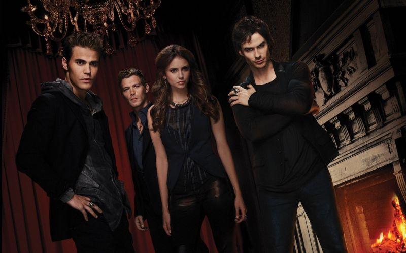 Nina Dobrev The Vampire Diaries TV series Ian Somerhalder Elena Gilbert Paul Wesley Stefan Salvatore Damon Salvatore Joseph Morgan wallpaper