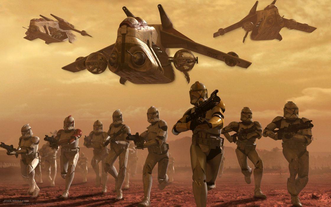 STAR WARS CLONE WARS animation sci-fi cartoon futuristic television clones series (1) wallpaper