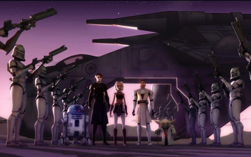 STAR WARS CLONE WARS animation sci-fi cartoon futuristic television clones series (2) wallpaper