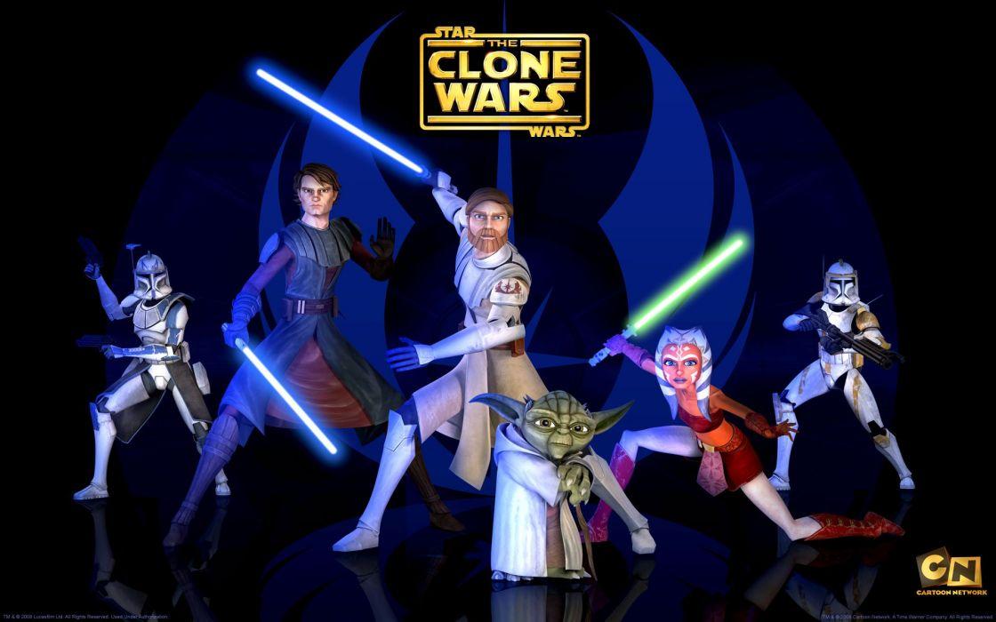 STAR WARS CLONE WARS animation sci-fi cartoon futuristic television clones series (9) wallpaper