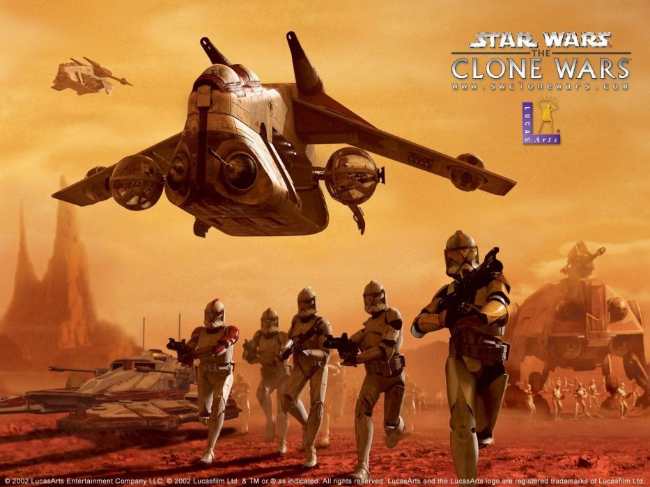 STAR WARS CLONE WARS animation sci-fi cartoon futuristic television clones series (15) wallpaper