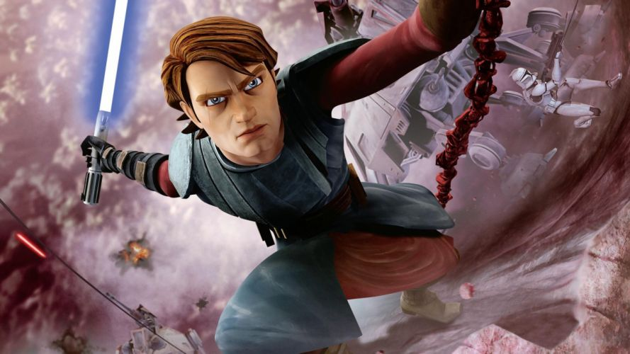 STAR WARS CLONE WARS animation sci-fi cartoon futuristic television clones series (32) wallpaper