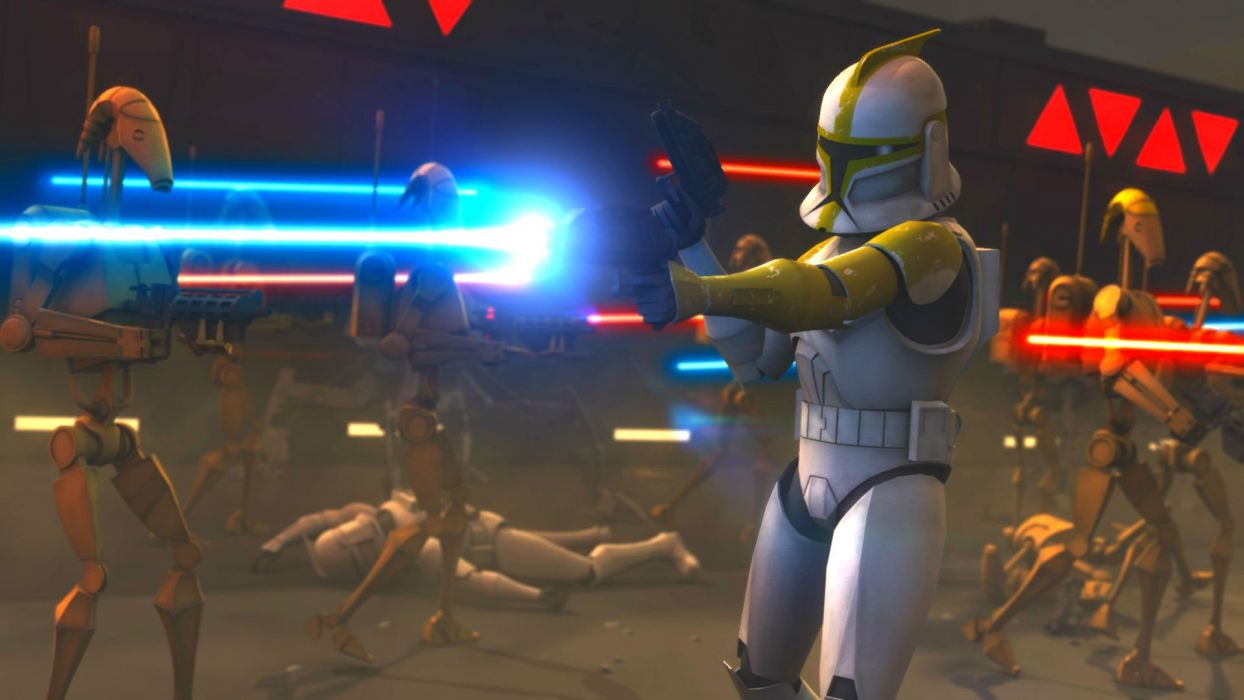 Star Wars Clone Wars Animation Sci Fi Cartoon Futuristic