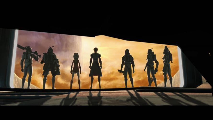 STAR WARS CLONE WARS animation sci-fi cartoon futuristic television clones series (97) wallpaper