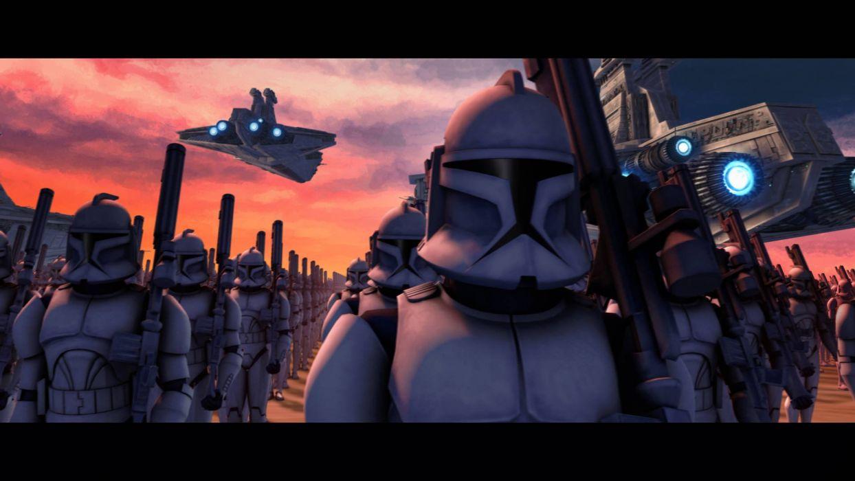 STAR WARS CLONE WARS animation sci-fi cartoon futuristic television clones series (101) wallpaper
