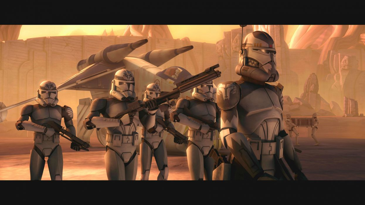 Star Wars The Clone Wars Wallpaper: STAR WARS CLONE WARS Animation Sci-fi Cartoon Futuristic