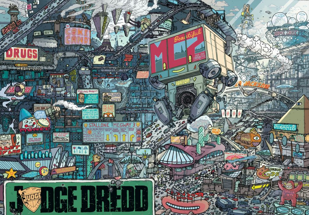 DREDD sci-fi action superhero judge (16) wallpaper