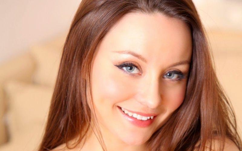 lingerie women redheads models Carla faces wallpaper
