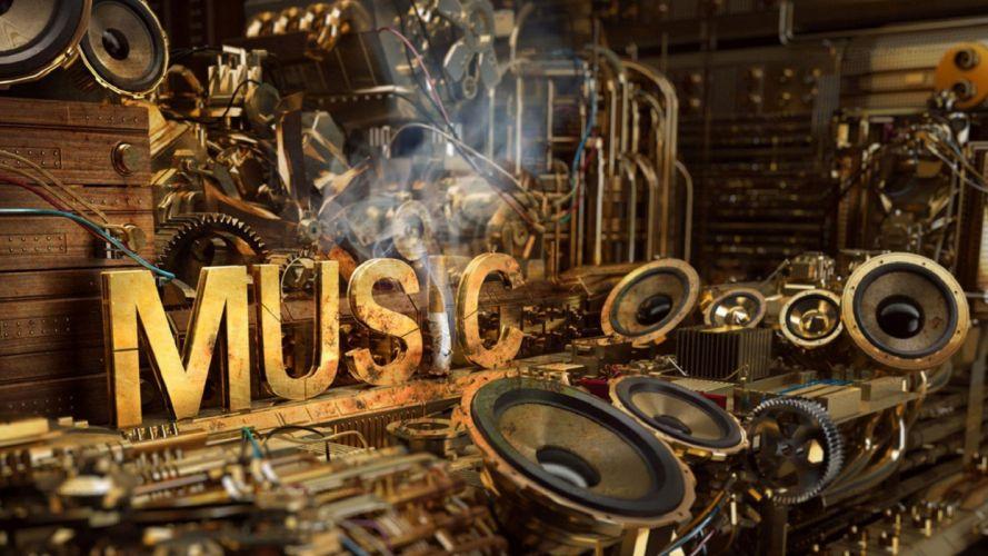 music speakers artwork wires wallpaper
