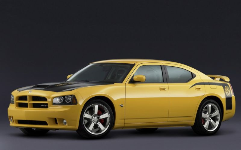 cars Dodge Dodge Charger SRT8 Black and Yellow wallpaper
