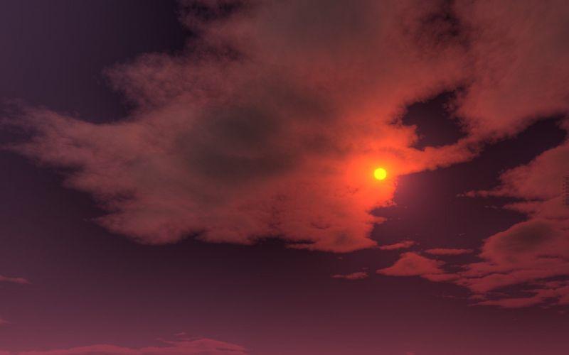 Sun skyscapes wallpaper