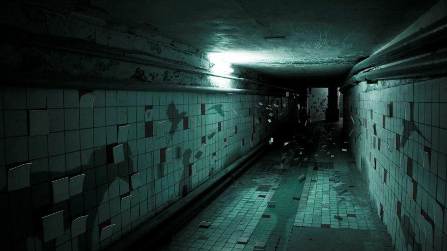 shadows underground tiles wallpaper