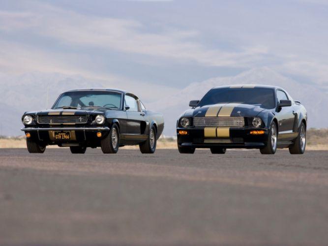 black cars vehicles supercars Ford Mustang wallpaper