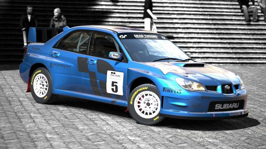 video games cars Subaru Impreza Gran Turismo 5 GT5 wallpaper