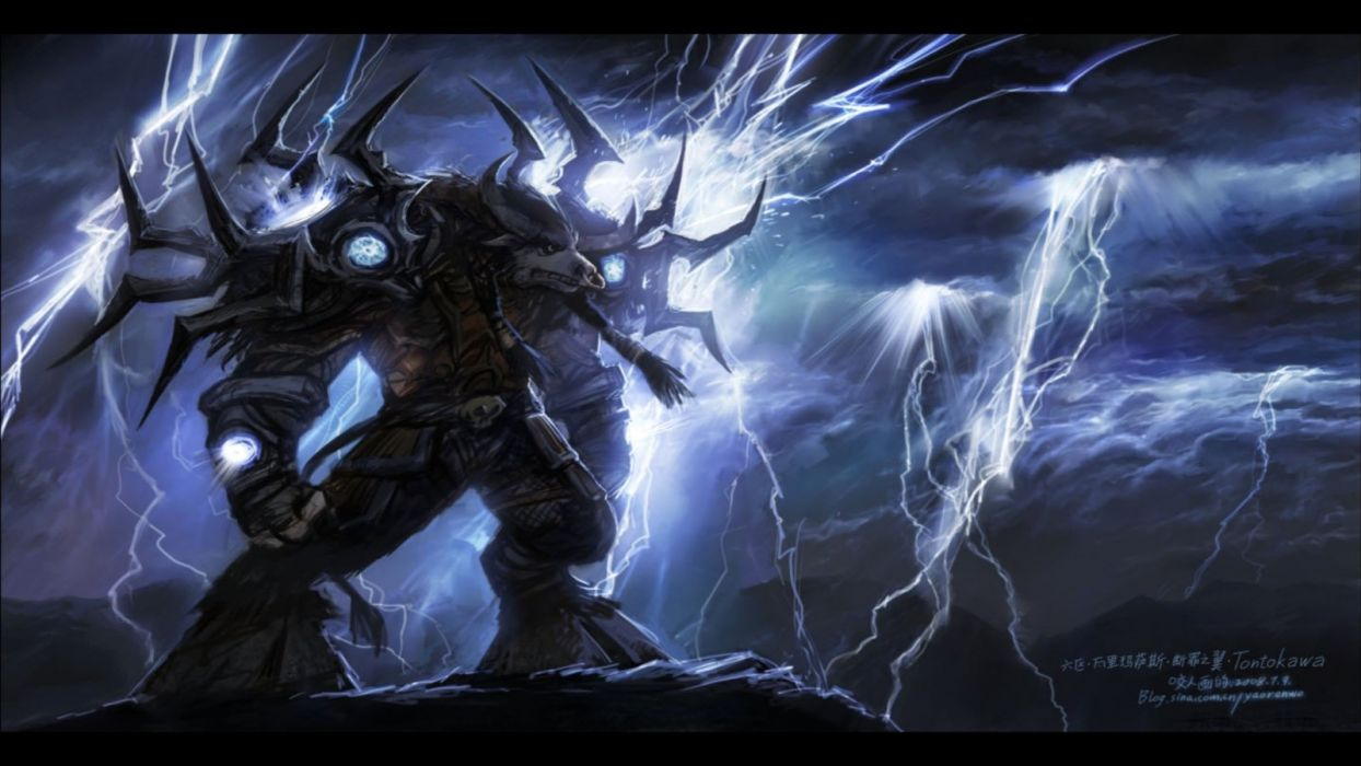 Video Games World Of Warcraft Electricity Tauren Elemental