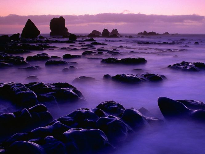 sunset ocean New Zealand beaches wallpaper