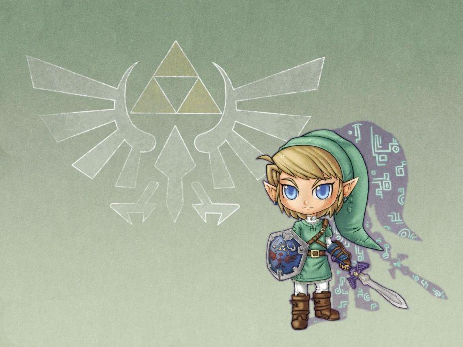 Link triforce The Legend of Zelda wallpaper