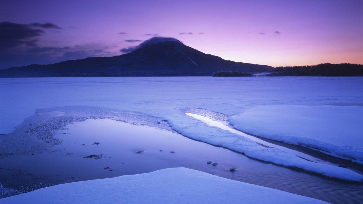 Japan winter National Park Hokkaido wallpaper