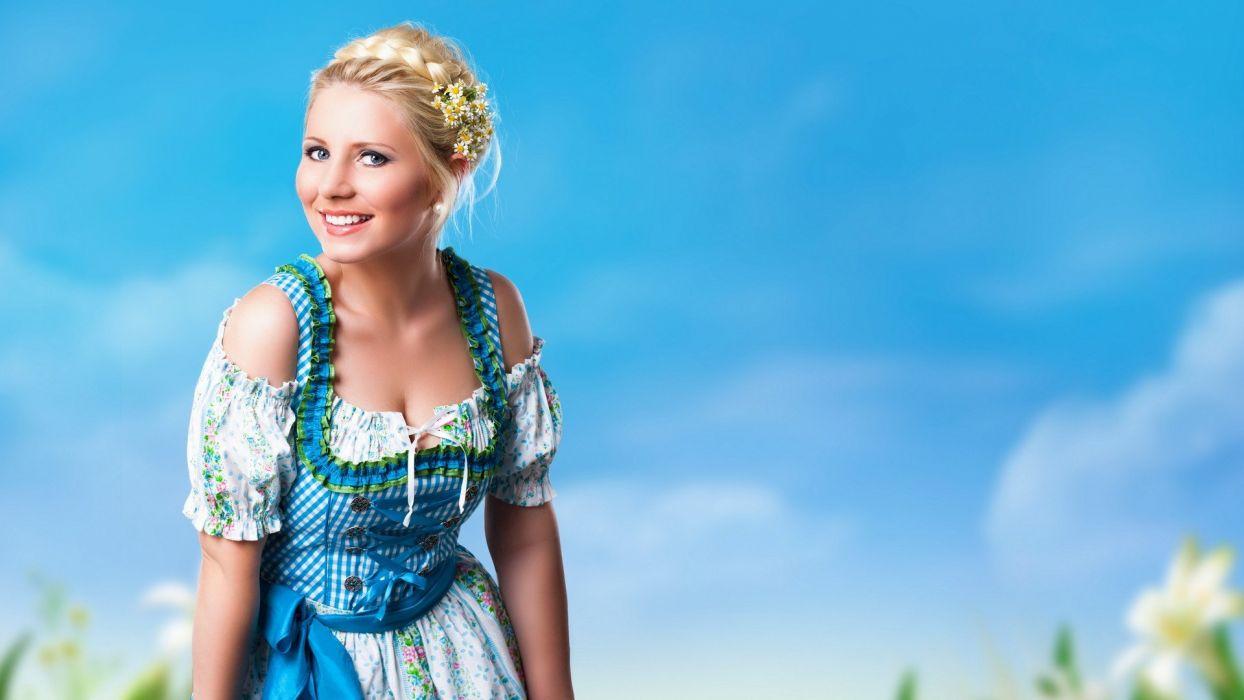 women German heidi models wallpaper