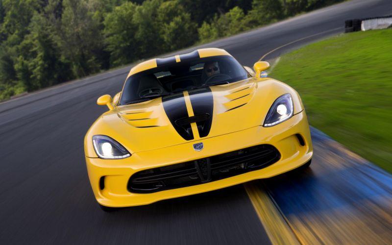 yellow cars race Motion SRT Viper wallpaper