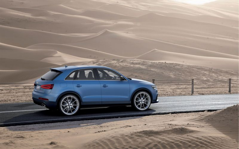 blue cars deserts Audi SUV blue cars German cars Audi RSQ3 wallpaper