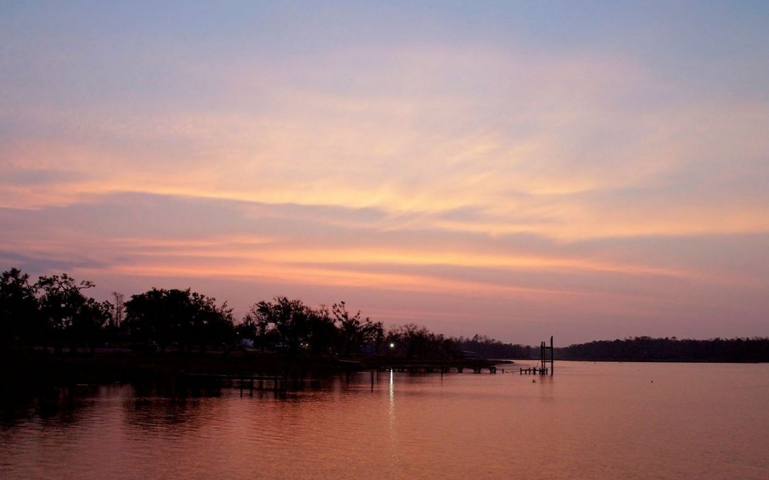 landscapes dawn silhouettes wallpaper